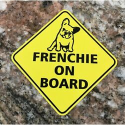 French Bulldog Sticker - Frenchie On Board French Bulldog Dogs Pets France