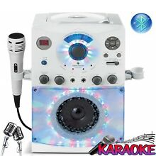 Singing Karaoke Machine System CD+G Play Multi-Colored LED Lights With Bluetooth