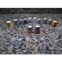 12 Vintage Thimbles, Preowned
