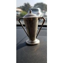 VTG Unengraved Silver Plated Trophy Loving Cup with lid