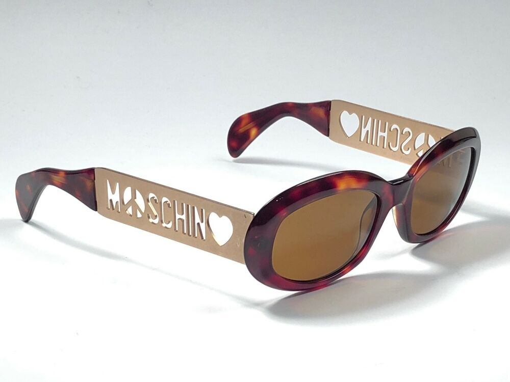 e6782f12514 NEW VINTAGE MOSCHINO BY PERSOL M644 TORTOISE   GOLD 1990 S ITALY SUNGLASSES