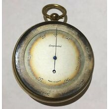 Antique Pocket Barometer Made In England As Is