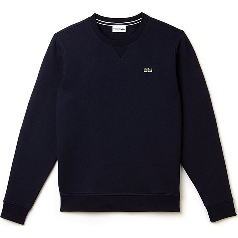 Details about Lacoste Sport Men s Brushed Fleece Crew Neck Cotton  Sweatshirt SH7613 Navy 9bfc7f38c8