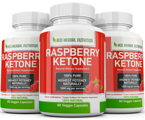 3X Advanced Weight Loss RASPBERRY KETONE 1600mg Extremely Fast Fat Burner Strong