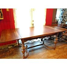 ANTIQUE JACOBEAN  DINING ROOM TABLE, NO chairs.  EARLY 1900s-  PU OHIO
