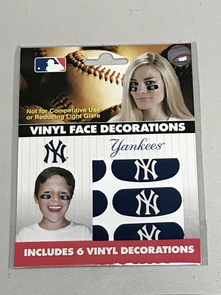 Details about MLB Eye Black Strips / Stickers - One package of six - New  York Yankees