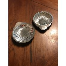 Oneida Silversmiths Shell Candy Dishes Trays Set of 2 Vintage 7 1/2""