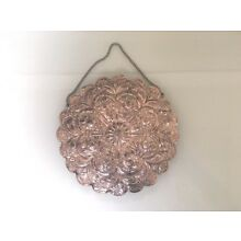 Large Vintage  Antique 900 Silver Turkish Persian Wedding Mirror Ornate Repousee