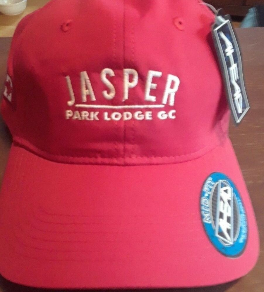 Details about NEW JASPER Park Lodge Golf Course Canada Flag Golf Hat  Baseball Cap Red AHEAD b5ed3f096248