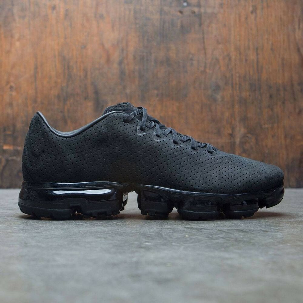 brand new 13524 4245a Details about Nike Air VaporMax LTR size 10.5. Triple Black Leather.  AJ8287-001. flyknit