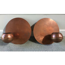 1930's Revere Art Deco Copper Wall Planters Modernist Machine Age