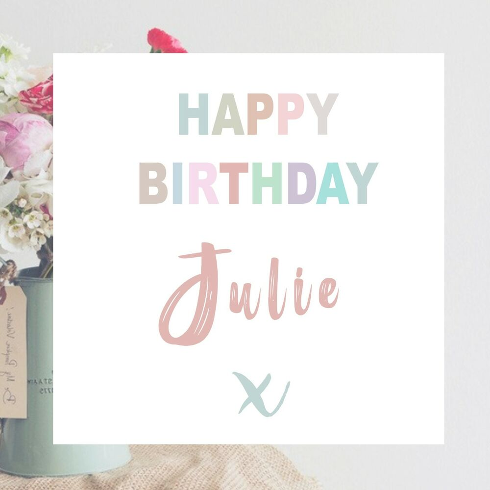 Details About Personalised Happy Birthday Greeting Card For Girl Daughter Sister 16th 18th UK