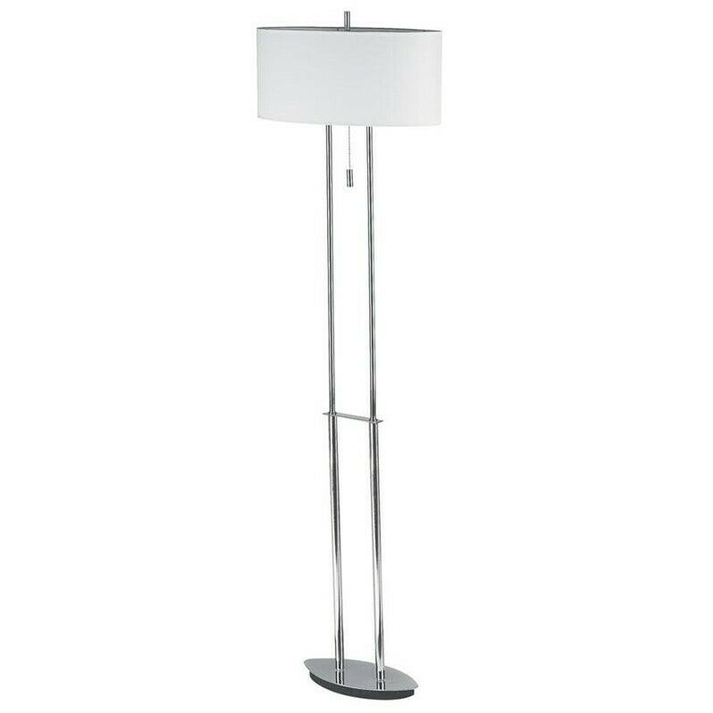 Dainolite Floor Lamp with Oval Shade in Polished Chrome | eBay