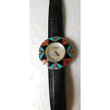 Vintage SURRISI Turquoise 925 Silver 2000 Quartz Movement Ladies Watch