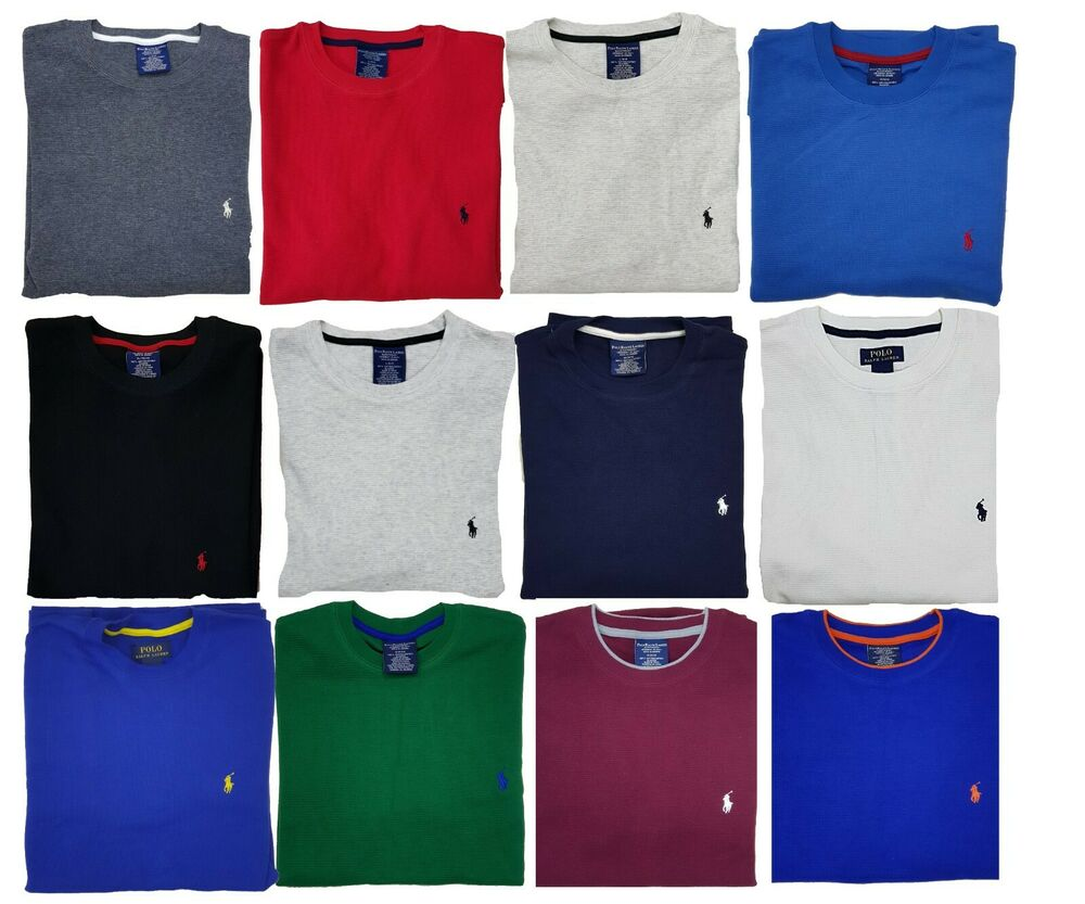 13ab6a7d Details about *New - Polo Ralph Lauren Mens Waffle Knit Thermal Long sleeve  shirts : S - XXL