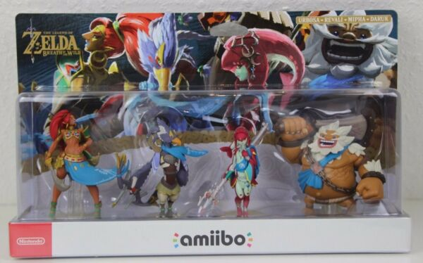 4 Amiibo Figuren Recken Set -  The Legend of Zelda - Breath of the Wild Neu OVP