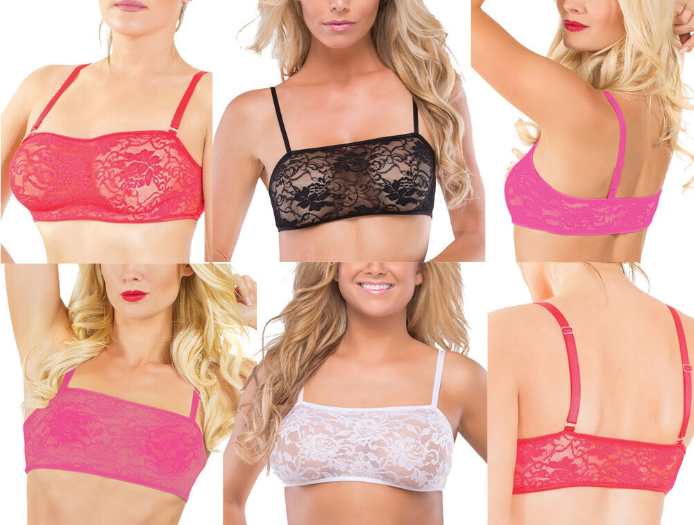 53c0c1c71c Details about Coquette Sexy Stretch Lace Bralette Bra One Size