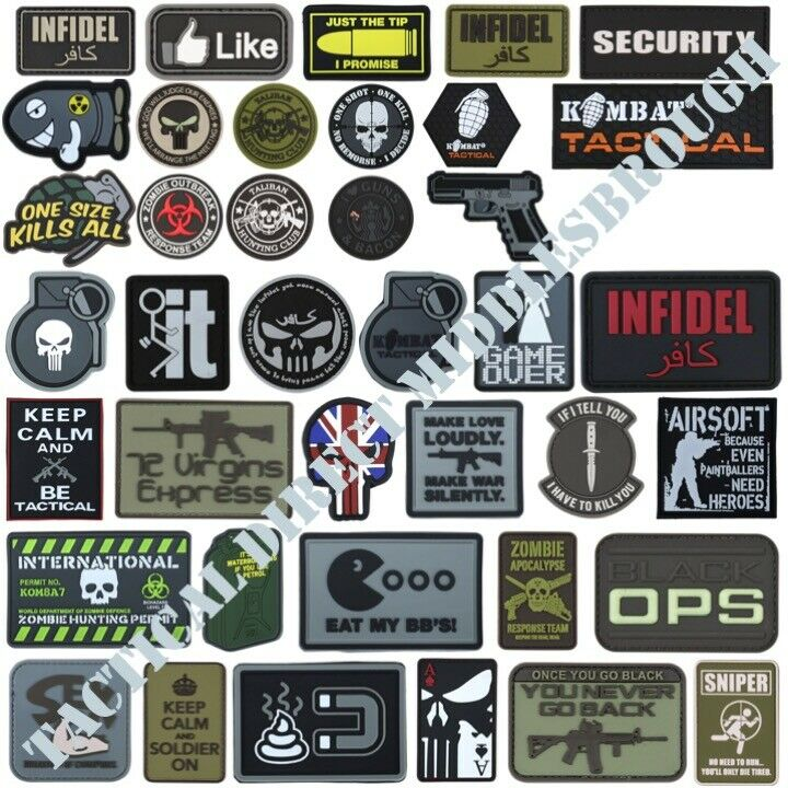 52714f63b055 Details about TACTICAL MORALE PATCH HOOK   LOOP PVC BADGE FUNNY UK ARMY  PAINTBALLING INFIDEL