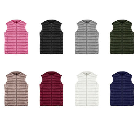 img-Fashion Womens Padded Quilted Down vest Gilet Body Warmer Sleeveless Warm Jacket