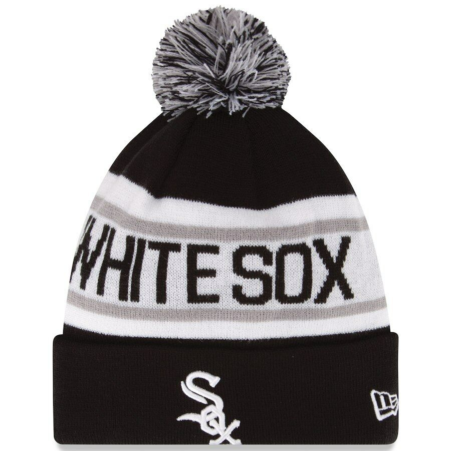 793ee3695004f ... reduced details about new era mlb chicago white sox biggest fan cuffed  pam knit beanie hat