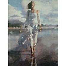 Steve Hanks Moving On Artist Proof Print Signed Certificate 31 3/4x22 1/2 size