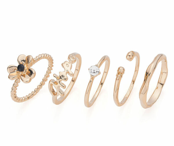 Gold Stackable Rings - 18mm - Size P/Q