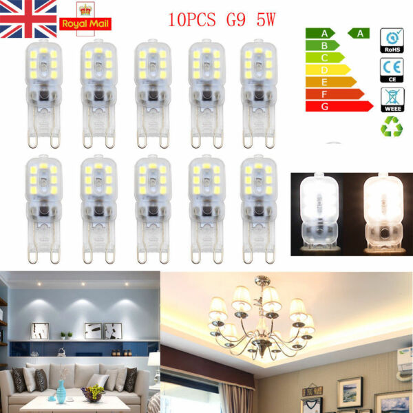 5X 10X  G9 LED Bulb Lights 8W 5W Replacement Dimmable Bulbs 220V-240V UK Stock