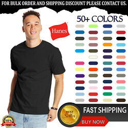 Hanes Unisex Cotton/Polyester Plain Short Sleeves Beefy-T T-Shirt 5180 S-6XL