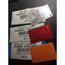 Casino Players Cards And Cash Tickets- 3 Different