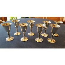 Vintage F.B.Rogers (Spanish) Silver Plated Wine Goblets Set of 8