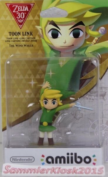 Toon Link Amiibo Legend of Zelda Wind Walker 30th Anniversary Erstauflage