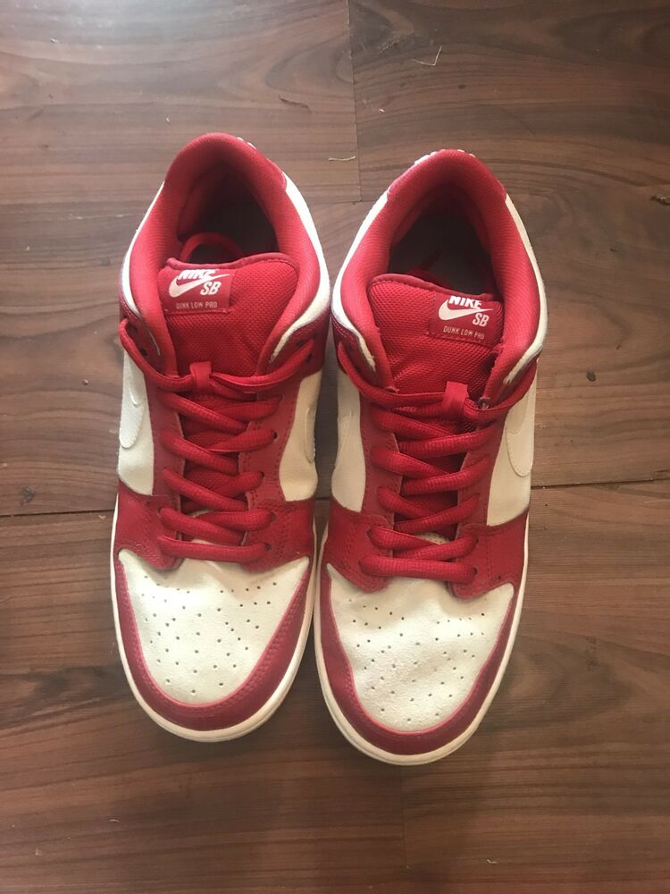 Details about NIKE DUNK SB low red white VALENTINES DAY 2015 mens size 10.5 4e3a8b48b1
