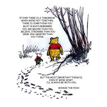 Winnie The Pooh And Piglet Hunt With Quote Print 11 x 14   #3632