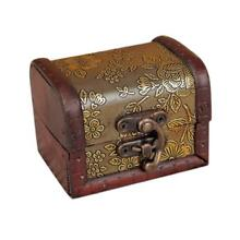 DIVV Decorative Trinket Jewelry Storage Box Handmade Vintage Wooden Treasure