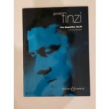Gerald Finzi Five Bagatelles Op 23 Clarinet Sheet Music Piano Book used great