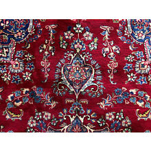9x12 RED PERSIAN RUG HAND KNOTTED RUGS WOOL ANTIQUE oriental blue green 10x13 ft