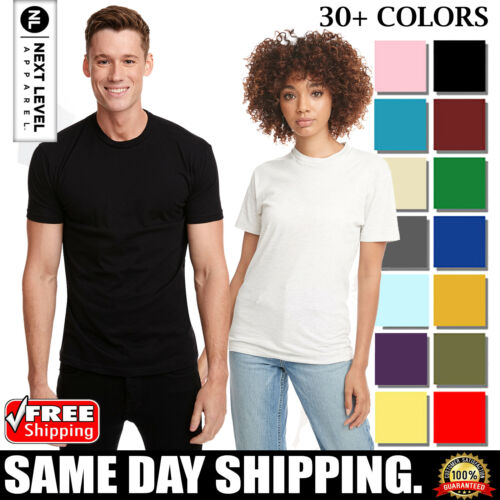 Next Level Apparel Premium Mens Crew Neck T-Shirt 3600 Soft Basic T Shirt Tee