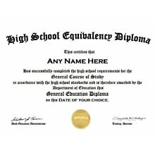 PDF emailed to you-Customized High School GED Diploma Looks like the real deal