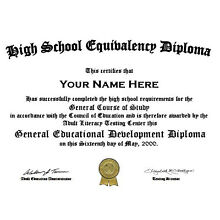PDF emailed to you-Customized High School GED Diploma (Fake)Looks so real!