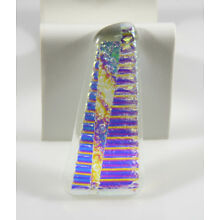 Abstract Triangle - Fused Dichroic Glass Cabochon 66.3mm x 31.5mm x 6mm