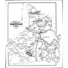 1879 Town of Lakeville, Massachusetts MA Mass Map - new reprint