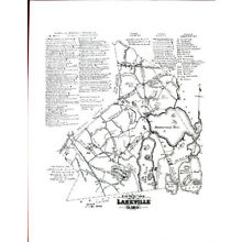 Lakeville, MA Mass Massachusetts Points of Historic Interest Map