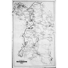 1879 Map of Middleboro Massachusetts Middleborough MA Mass Downtown Map Houses