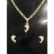 Gold Filled kids Dolphin jewelry set