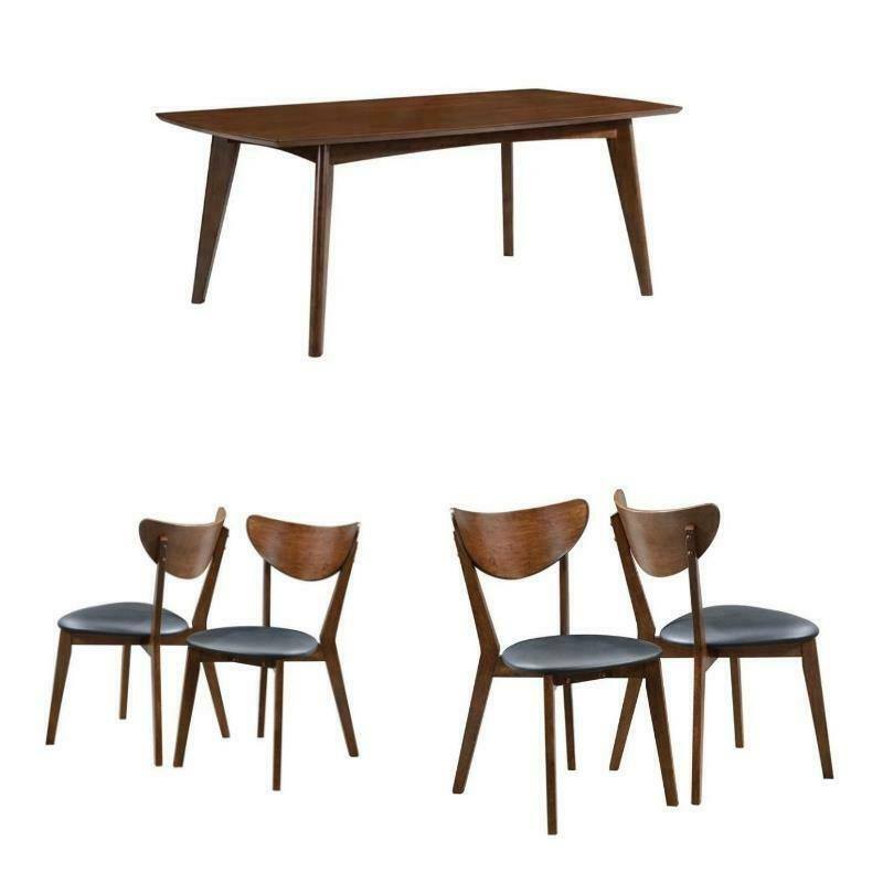 Mid Century Modern Dining Set: 5 Piece Mid Century Modern Dining Table And 4-Chair Set In