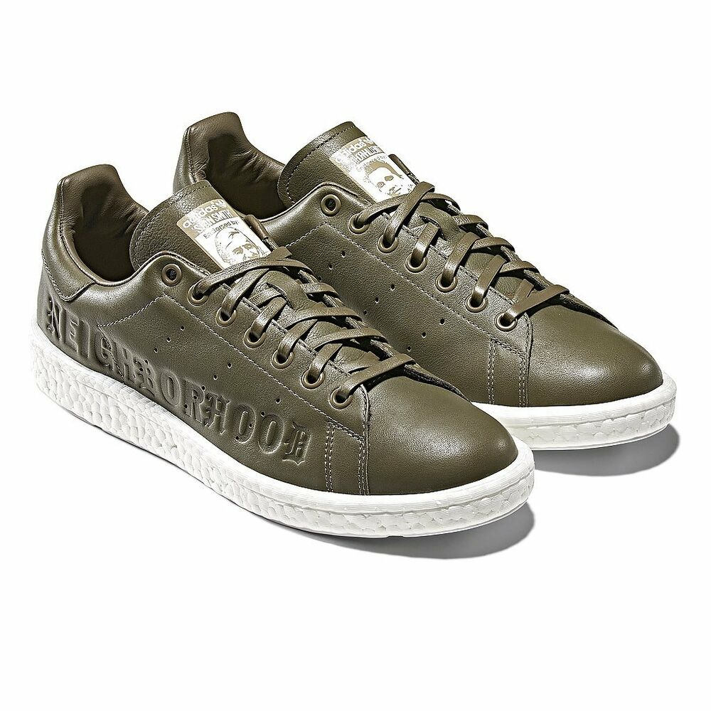 best sneakers 0e9aa d1ccc Details about Adidas x NEIGHBORHOOD Stan Smith Boost size 13. Olive Green  White. B37342.