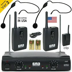 Kyпить Professional Wireless Microphone System Dual Headset 2 x Mic Cordless Receiver на еВаy.соm