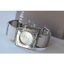 Silpada Hammered Sterling Silver Square Link Watch T1372