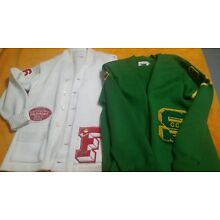 Vintage 1966 1968 letterman sweater football lot of 2 large size