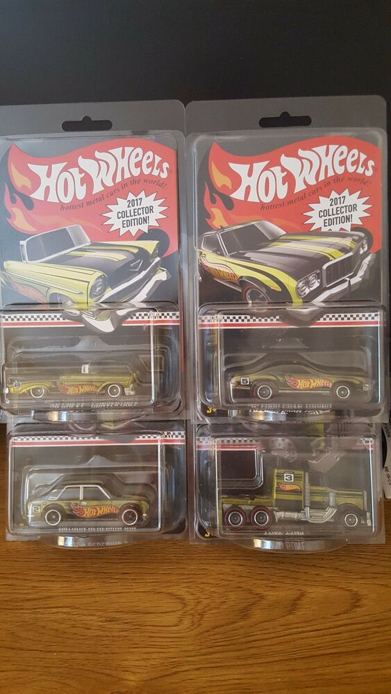 Details About Hot Wheels 2017 Collector S Edition Set Of 4 Includes The Datsun Bluebird 510